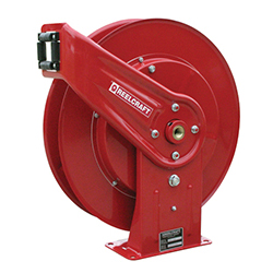 Reelcraft A5800 OLP Premium Duty Spring Retractable Hose Reel 25 Air//Water Hose Not Included 25/' Air//Water Hose Not Included