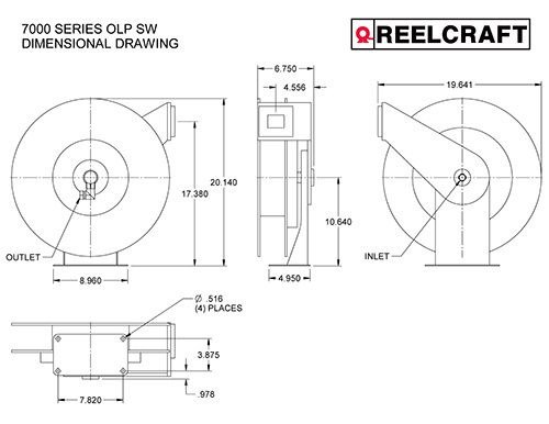 GC7535 OLP Dimensions