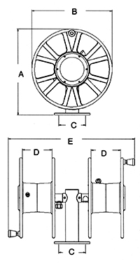 Safe-T-Reel Dimensions